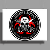 Biohazard Zombie Squad 3 Ring Patch outlined 2 9 Poster Print (Landscape)