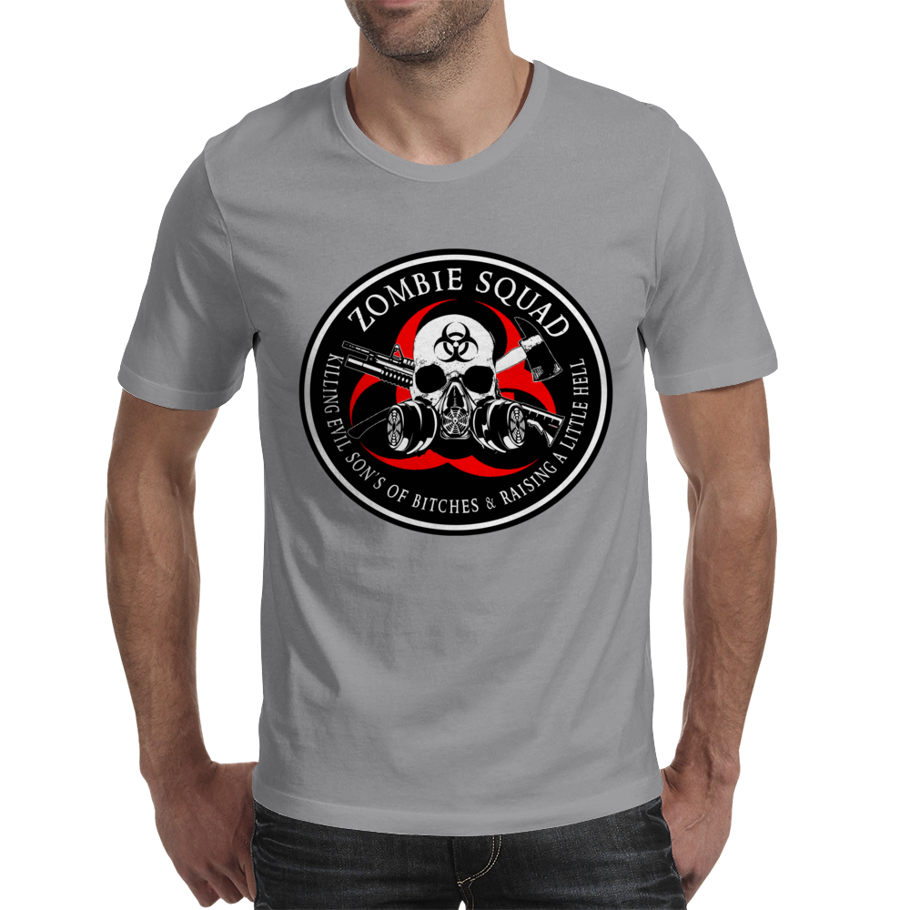 Biohazard Zombie Squad 3 Ring Patch outlined 2 Mens T-Shirt