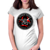 Biohazard Zombie Squad 3 Ring Patch outlined Womens Fitted T-Shirt