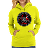 Biohazard Zombie Squad 3 Ring Patch outlined Womens Hoodie