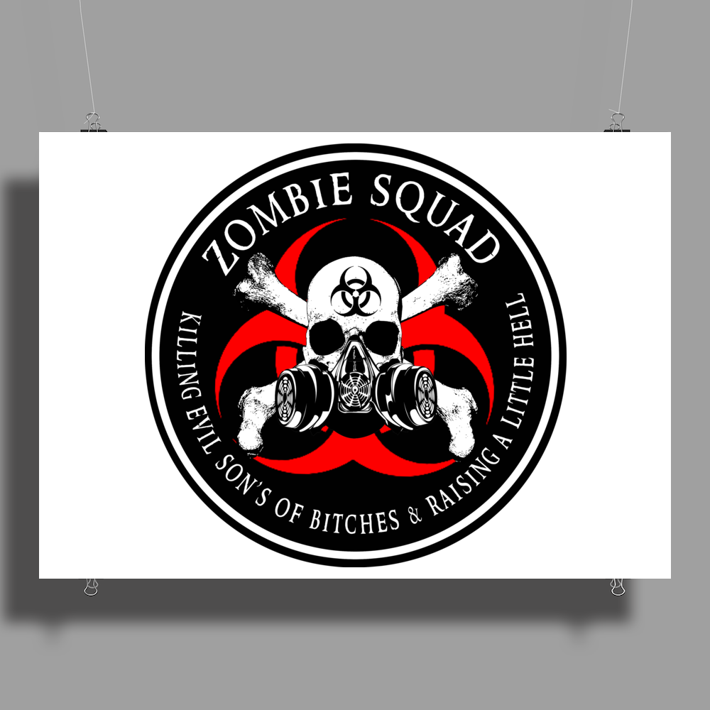 Biohazard Zombie Squad 4 Ring Patch outlined 2 9 Poster Print (Landscape)