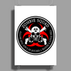 Biohazard Zombie Squad 4 Ring Patch outlined 2 9 Poster Print (Portrait)