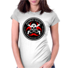Biohazard Zombie Squad 4 Ring Patch outlined 2 9 Womens Fitted T-Shirt