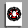 Biohazard Zombie Squad 4 Ring Patch outlined 9 Poster Print (Portrait)