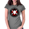 Biohazard Zombie Squad 4 Ring Patch outlined 9 Womens Fitted T-Shirt
