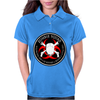 Biohazard Zombie Squad 4 Ring Patch outlined 9 Womens Polo