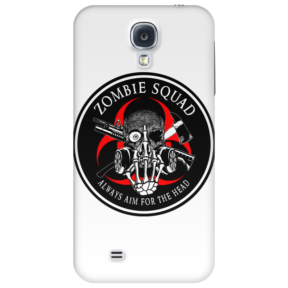 Biohazard Zombie Squad Always aim for the head F U Ring Patch outlined 2 9 Phone Case