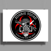Biohazard Zombie Squad Always aim for the head F U Ring Patch outlined 2 9 Poster Print (Landscape)