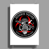 Biohazard Zombie Squad Always aim for the head F U Ring Patch outlined 2 9 Poster Print (Portrait)