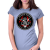 Biohazard Zombie Squad Always aim for the head F U Ring Patch outlined 2 9 Womens Fitted T-Shirt