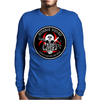 Biohazard Zombie Squad Always aim for the head F U Ring Patch outlined Mens Long Sleeve T-Shirt