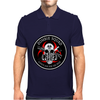 Biohazard Zombie Squad Always aim for the head F U Ring Patch outlined Mens Polo
