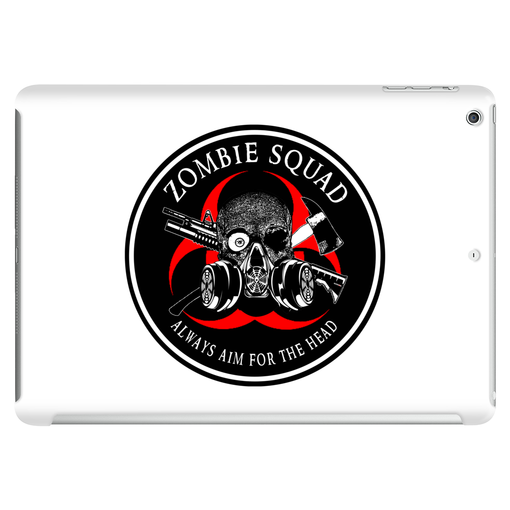 Biohazard Zombie Squad Always aim for the head Ring Patch outlined 2 Tablet (horizontal)