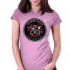 Biohazard Zombie Squad Always aim for the head Ring Patch outlined 2 Womens Fitted T-Shirt