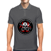 Biohazard Zombie Squad Always aim for the head Ring Patch outlined Mens Polo