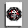 Biohazard Zombie Squad Fuck U Ring Patch outlined L Poster Print (Portrait)