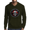 Biohazard Zombie Squad Fuck U Ring Patch outlined Mens Hoodie