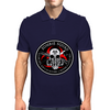 Biohazard Zombie Squad Fuck U Ring Patch outlined Mens Polo