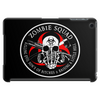 Biohazard Zombie Squad Fuck U Ring Patch outlined Tablet (horizontal)