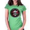 Biohazard Zombie Squad Fuck U Ring Patch outlined Womens Fitted T-Shirt