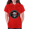 Biohazard Zombie Squad Fuck U Ring Patch outlined Womens Polo