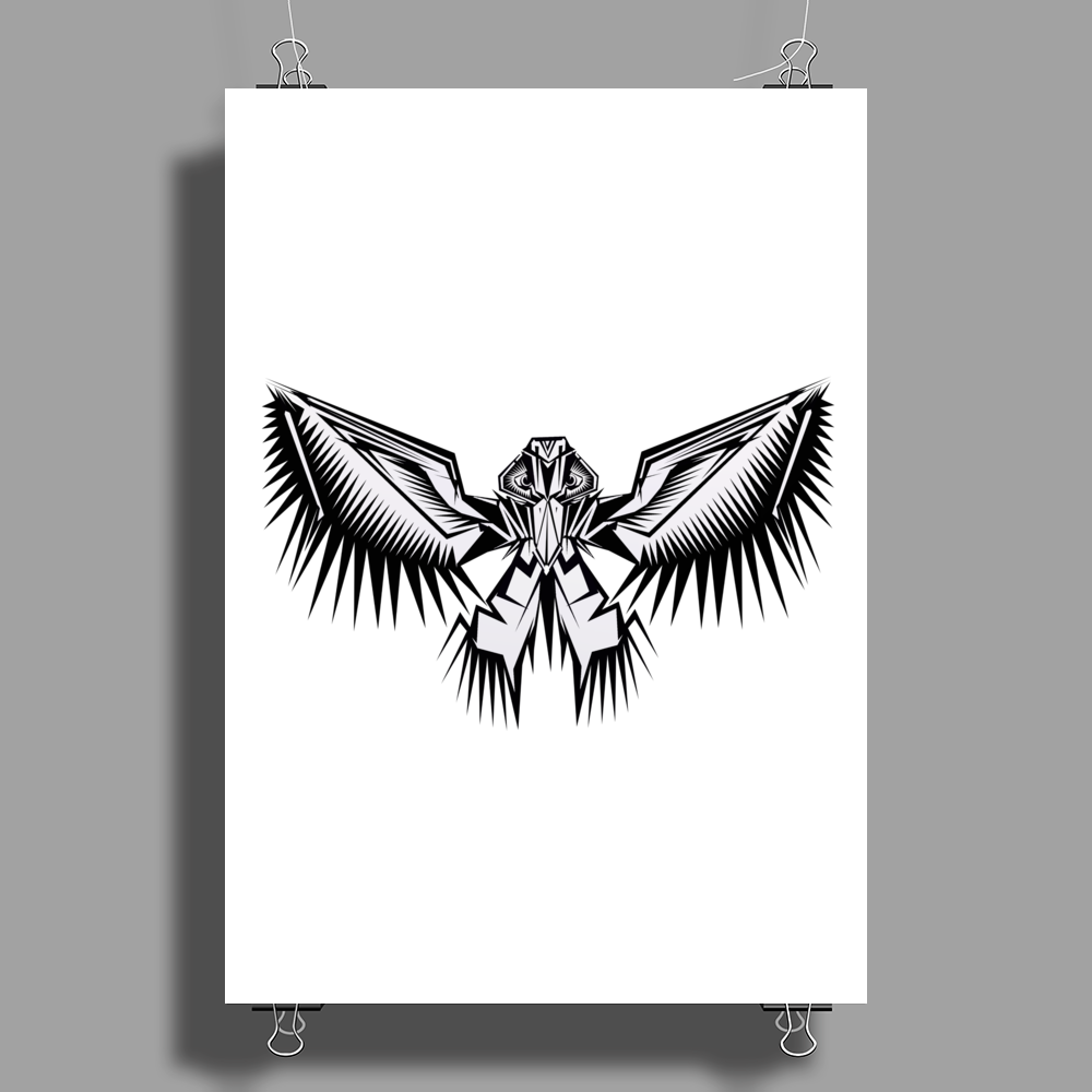 Bird Of Prey Poster Print (Portrait)