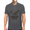 BIRDS MAKE ME HAPPY YOU NOT SO MUCH Mens Polo