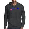 Bisexual Multi Color--Triangles Mens Hoodie
