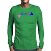 Bisexual Multi Color--Triangles Mens Long Sleeve T-Shirt