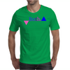 Bisexual Multi Color--Triangles Mens T-Shirt