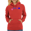 Bisexual Multi Color--Triangles Womens Hoodie