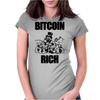 Bitcoin Rich Money Womens Fitted T-Shirt