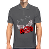 Bite me Vampkiss Wings 2 Mens Polo