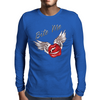 Bite me Vampkiss Wings Mens Long Sleeve T-Shirt