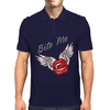 Bite me Vampkiss Wings Mens Polo