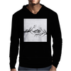 Black and White birds Mens Hoodie