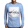 Black and White birds Mens Long Sleeve T-Shirt