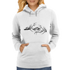 Black and White birds Womens Hoodie