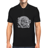 Black and White Catrina (Day of the Dead) Mens Polo