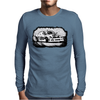 Black and white Drift racing action Mens Long Sleeve T-Shirt