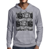 Black and White Sacred Geometry Zentangle Design Mens Hoodie