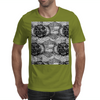 Black and White Sacred Geometry Zentangle Design Mens T-Shirt