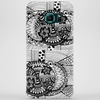 Black and White Sacred Geometry Zentangle Design Phone Case