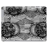 Black and White Sacred Geometry Zentangle Design Tablet (horizontal)