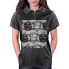 Black and White Sacred Geometry Zentangle Design Womens Polo