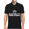 Black Belt In Ping Pong Mens Polo
