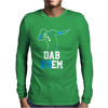 Black Carolina Panthers Dab On em Mens Long Sleeve T-Shirt