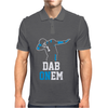 Black Carolina Panthers Dab On em Mens Polo