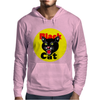 Black Cat Fireworks Firecracker Mens Hoodie