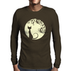 Black cat in the moon Mens Long Sleeve T-Shirt